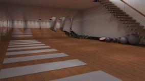 Vista interior de un gimnasio Foto de archivo libre de regalías