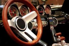 Vista interior de un jeep Fotos de archivo libres de regalías
