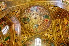 Vista interior de Vank Catedral santamente armênia do salvador fotografia de stock