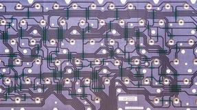 Vista interior del circuito electrónico del teclado de ordenador Fotografía de archivo libre de regalías