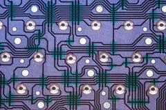 Vista interior del circuito electrónico del teclado de ordenador Fotografía de archivo