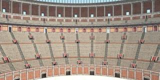 Vista interior del Colosseum en Roma antigua