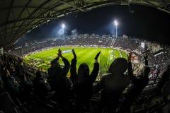 Vista interior del lleno en el estadio de Toumba, Griego Superleague m Imagenes de archivo