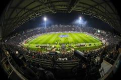 Vista interior del lleno en el estadio de Toumba, Griego Superleague m Fotos de archivo