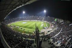 Vista interior del lleno en el estadio de Toumba, Griego Superleague m Fotografía de archivo libre de regalías