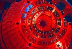 Vista interior del modelo del motor de jet Imágenes de archivo libres de regalías
