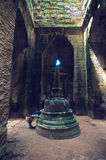 Vista interior del templo del som de TA. Angkor Wat Foto de archivo libre de regalías