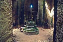 Vista interior del templo del som de TA. Angkor Wat Fotografía de archivo libre de regalías