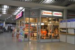 Vista interior del terminal de Morchit del término de autobuses de la ciudad de Bangkok Imagen de archivo libre de regalías