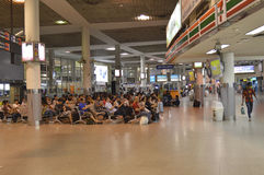 Vista interior del terminal de Morchit del término de autobuses de la ciudad de Bangkok Foto de archivo