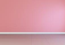 vista interior, dianteira vazia cor-de-rosa, assoalho lustroso Foto de Stock Royalty Free