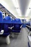 Vista interior do trem Fotografia de Stock