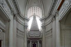 Vista interior hermosa de la iglesia de la abadía en Floreffe Imagenes de archivo