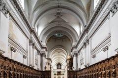 Vista interior hermosa de la iglesia de la abadía en Floreffe Fotos de archivo libres de regalías