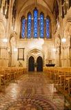 Vista interior na catedral da igreja de Christ em Dublin fotografia de stock royalty free