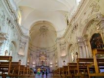 Vista interna Chiesa del san Francis Immaculate, Noto, Sicilia, Italia Immagine Stock Libera da Diritti