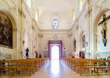 Vista interna Chiesa del san Francis Immaculate, Noto, Sicilia, Italia Immagine Stock