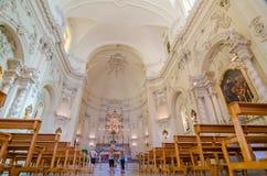 Vista interna Chiesa del san Francis Immaculate, Noto, Sicilia, Italia Fotografia Stock Libera da Diritti