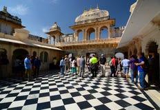 Vista interna Città Palace Udaipur Il Ragiastan L'India Immagine Stock Libera da Diritti
