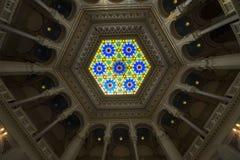Vista interna da biblioteca nacional Foto de Stock
