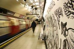 Vista interna da Londres subterrânea Foto de Stock Royalty Free