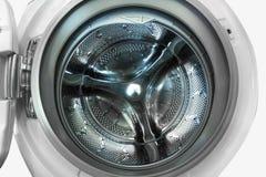 Vista interna da máquina de lavar Foto de Stock