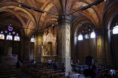 Vista interna de la iglesia de Orsanmichele, en el centro medieval Fotos de archivo