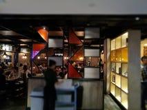 Vista interna de un restaurante en calle del este de la puerta de Shenzhen Foto de archivo libre de regalías