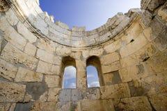 Vista interna del battistero di Simeon del san, Siria Immagine Stock Libera da Diritti