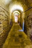 Vista interna del castello Angevine-aragonese in Gallipoli, AIS Fotografia Stock Libera da Diritti