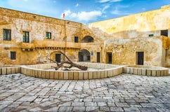 Vista interna del castello Angevine-aragonese in Gallipoli, AIS Immagini Stock