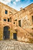 Vista interna del castello Angevine-aragonese in Gallipoli, AIS Fotografie Stock