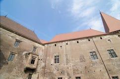 Vista interna del castello di Huniazi Fotografie Stock Libere da Diritti