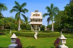 Vista interna del centro turístico de la herencia de Champaner, Halol, Gujarat foto de archivo