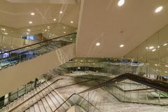 Vista interna del corridoio di Segerstrom immagine stock libera da diritti