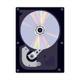 Vista interna del disco duro de un ordenador Imágenes de archivo libres de regalías