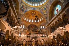 Vista interna del mare Nicholas Cathedral Fotografia Stock Libera da Diritti