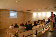 Vista interna del museo commemorativo di olocausto, in Washington DC, U.S.A. Fotografie Stock