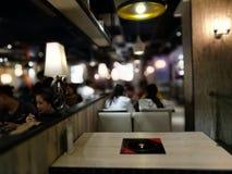 Vista interna del restaurante en calle del este de la puerta de Shenzhen Fotos de archivo
