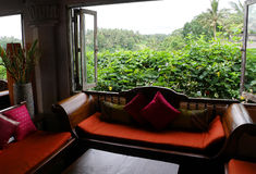 Vista interna del salone di lusso, stili orientali Fotografia Stock