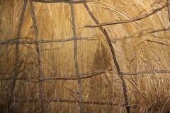 Vista interna del wigwam dell'alloggio del nativo americano ad antico forte Fotografia Stock Libera da Diritti