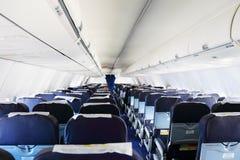 Vista interna dell'aeroplano fotografia stock libera da diritti