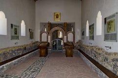 Vista interna dell'ascensione della chiesa nel laureato di Stari Mali fotografia stock
