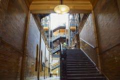 Vista interna dell'edificio famoso e storico di bradbury immagine stock