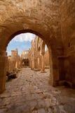 Vista interna della basilica Rasafa della st Sergius Immagine Stock