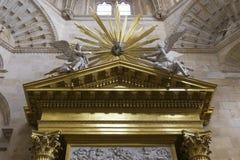 Vista interna della cattedrale di Burgos Immagine Stock Libera da Diritti