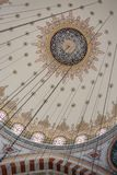 Vista interna della cupola nell'architettura dell'ottomano fotografia stock libera da diritti