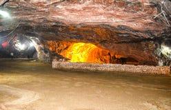 Vista interna della miniera di Khewra Fotografie Stock Libere da Diritti