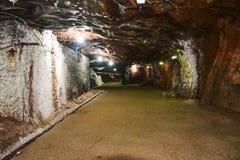 Vista interna della miniera di Khewra fotografia stock libera da diritti