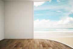 Vista interna della spiaggia Fotografia Stock